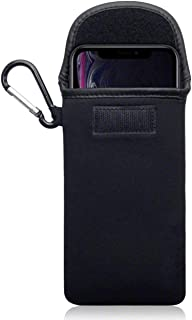 Olixar Smartphone Pouch Case - Neoprene Cover - Padded Shock & Impact Resistant - with Carabiner - for Hiking, Travelling, Exploring - Universal Design up to 6.8