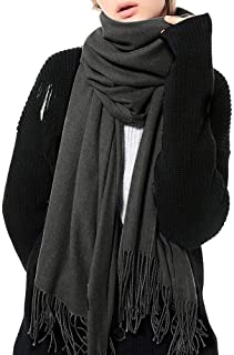 Womens Winter Scarf Cashmere Feel Pashmina Shawl Wraps Soft Warm Blanket Scarves for Women