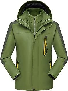 GDJGTA Hooded for Plus Size Waterproof Hoodie Hat Detachable Breathable Sport Outdoor Coat
