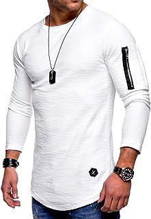 Rela Bota Mens Sweatshirts Fashion Athletic Solid Color Slim Fit Sport Lightweight Long Sleeve Pullover