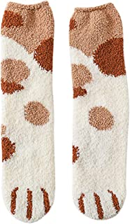 SilenceID, 5 pares de calcetines de forro polar para mujer, bonitos calcetines de felpa, medias medias, gruesos, suelos de pelo, color verde