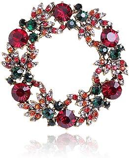 胸针,领针,丝巾扣,レディースクリスマスブローチガーランド
