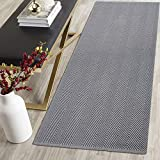 HEBE Extra Long Cotton Area Rug Runner 2'x6' Reversible Hand Woven Cotton Throw Rug Floor Mat Carpet Runner for Kitchen Bedroom Entryway Laundry Room (2'x6', Chevron Grey)