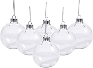 Best Kanonaki Case of 12 Clear Plastic Round Ball Ornaments - The Look of Glass Ornaments Review