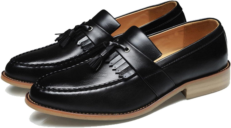 Thadensama Oxford skor för män läder ny Slip on Front Front Front Man Dress skor Mode Point Toe män skor läder Manliga skor  presentera alla senaste high street mode