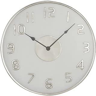Deco 79 43536 Wall Clock, Black/Silver/White