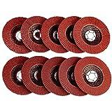 50 unidades de 115 mm de óxido de aluminio de lijado aleta ángulo amoladora discos de metal ruedas muelas 80 granos para amoladoras angulares