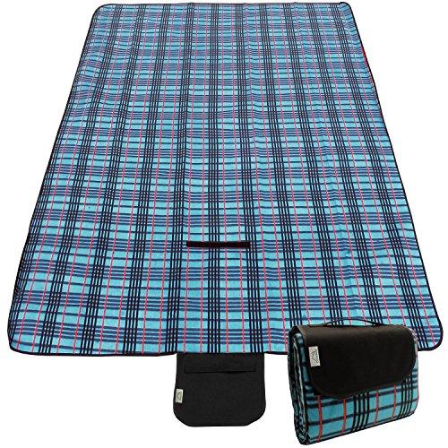 CampTeck Extra Large (200 x 150cm) Folding Picnic Blanket Fleece Water...