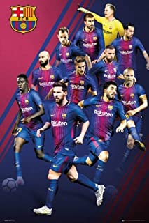 """POSTER STOP ONLINE FC Barcelona - FCB - Sports/Soccer Poster/Print (The Players - 2017/2018) (Size: 24"""" x 36"""")"""