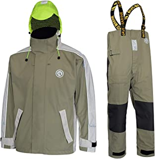 Navis Marine Sailing Jacket with Bib Pants for Men Women Waterproof Breathable Rain Suit Fishing Foul Weather Gear