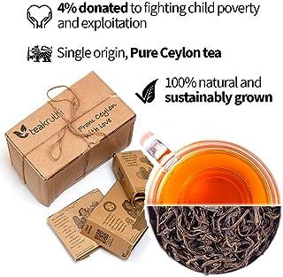 teakruthi - 100% All Natural Pure Ceylon Tea - Black Tea - MILD, MALTY & FINE Tasting - Orange Pekoe OP - Loose Leaf Tea - Powerful Anti-OXIDANTS - Brew Hot Tea or Kombucha Tea