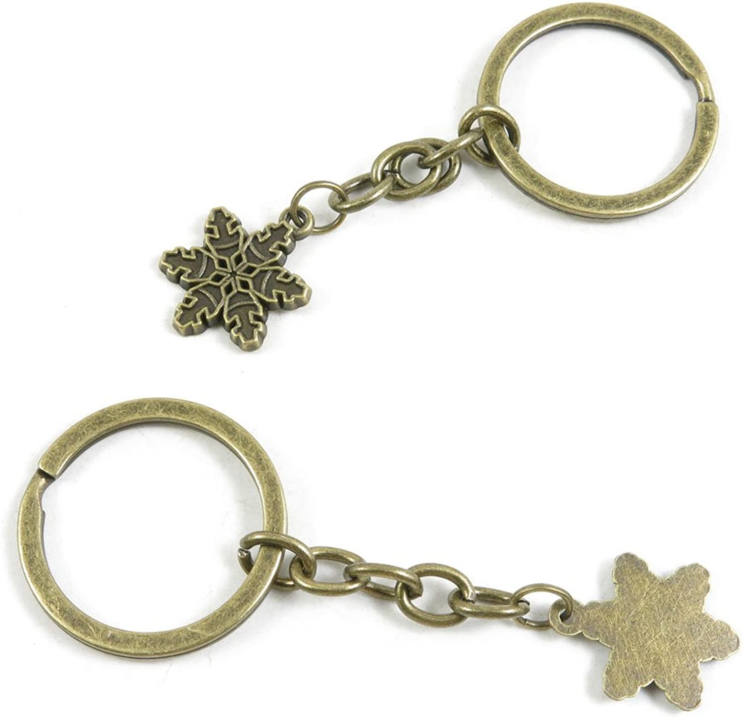 210 Pieces Fashion Jewelry Keyring Keychain Door Car Key Tag Ring Chain Supplier Supply Wholesale Bulk Lots S7BS1 Snow Flake Snowflake