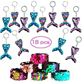 Witch pocket 18 Pcs Mermaid Magic Reversible Sequins Pulseras de bofetada y Lentejuelas con...
