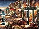 Centro de la ciudad en la noche estrellada cruz puntada Kits, 82x64cm ct 14, 400 x 298 pun...