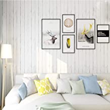 Homeme White Wood Contact Paper, 45 x 600cm Peel Stick Wallpaper Self Adhesive Wallpaper with PVC Waterproof Oil-Proof Rem...