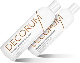 DECORUM Restore Argan Oil Shampoo & Conditioner, 24 Ounce