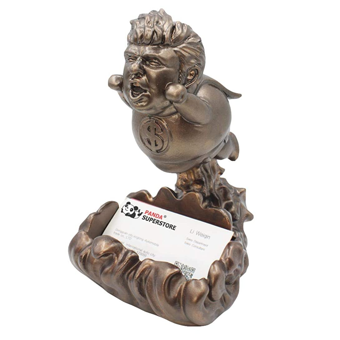 キャッチ枢機卿アンカー大統領ドナルドトランプ彫刻ビジネスカードホルダーノベルティ政治ギャグ樹脂グッズ置物
