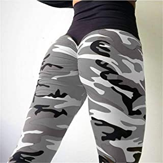 Women's High Waisted Bottom Scrunch Leggings,Ruched Yoga Pants Push up Butt Workout Capris