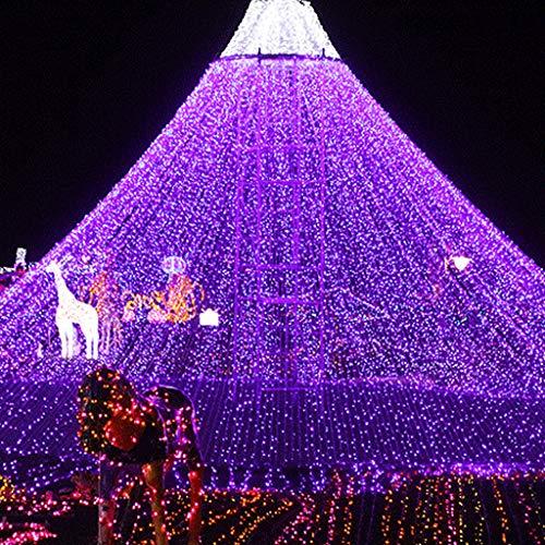 KALRTO 1,5 m x 1,5 m net ligh, gordijn mesh lichten, waterdicht lichtsnoer, binnen- en buiten, kerstverlichting, tuin bruiloft decoratie landschap verlichting