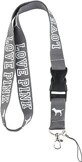 Love Pink Lanyard Keychain Holderfor Phones ID Badge holer Bags Neck Lanyard (Gray)