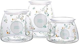 Verre de stockage des conteneurs couverts, épices Pot de rangement Boîte de rangement thé Café sucre Conteneur, cuisine Co...