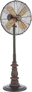 DecoBREEZE Pedestal Fan Adjustable Height 3 Speed Oscillating Fan, 16 In, Kipling
