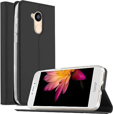 Huawei Honor 5C Pro Case, Flip Premium Case Cover for Honor 5C Pro/Huawei Honor 6A, Black