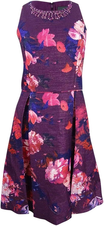 Adrianna Papell Womens Metallic Sleeveless Cocktail Dress
