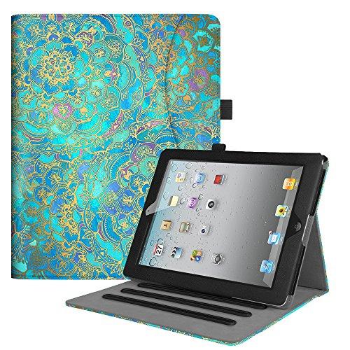 Fintie Hülle für iPad 2 / iPad 3 / iPad 4 (alte Modelle) 9.7 Zoll Tablet - [Eckenschutz] Multi-Winkel Betrachtung Folio Stand Schutzhülle mit Dokumentschlitze, Auto Sleep/Wake, Jade