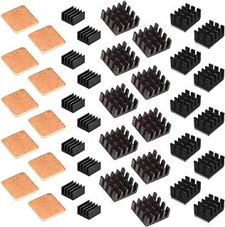 Easycargo 40pcs Raspberry Pi Heatsink Kit Aluminum + Copper + 3M 8810 Thermal Conductive Adhesive Tape for Cooling Cooler ...
