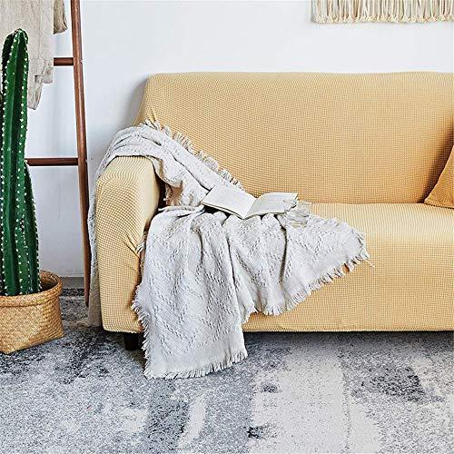 GAOZHEN Funda de sofá Gruesa de Punto con Todo Incluido, Funda Antideslizante, Funda de cojín para sofá, Toalla Four Seasons Universal 1 2 3 4 plazas