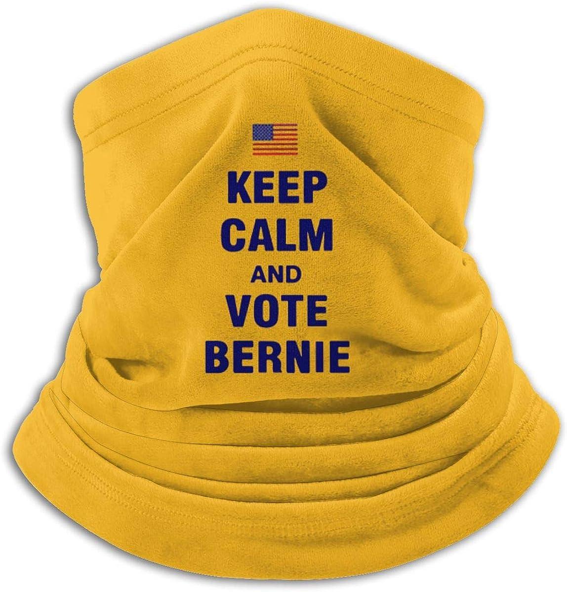 Vote Bernie Sanders 2020 Black Multi-function Neck Warmer Gaiter Polyester Neck Warmer Windproof Winter Neck Gaiter Cold Weather Scarf For Men Women
