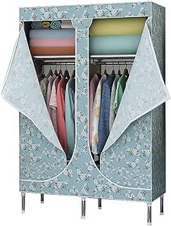 MFASD Armoire de Rangement Armoire en Tissu avec Fermeture éclair, Penderie de Vêtement Armoire Toile avec Tringle, Armoir...
