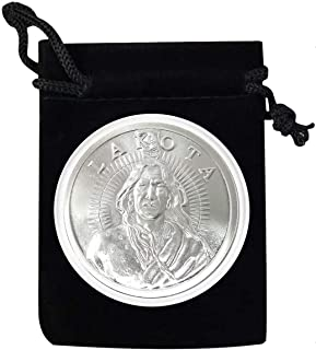 1 - Lakota Nation Silver Coin in Air Tite and Black Velvet Bag 1 Troy Ounce .999 Fine Silver AOCS Approved - Uncirculated