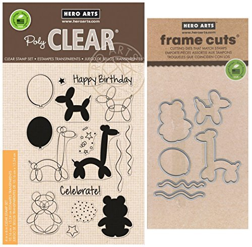 Hero Arts - Balloon Animal Birthday - Stamp and Die Set