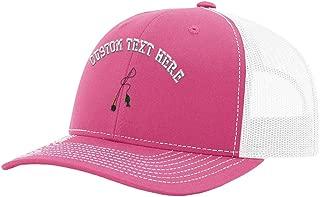 Custom Richardson Trucker Hat Fly Rod Embroidery Design Mesh Baseball Cap Snaps