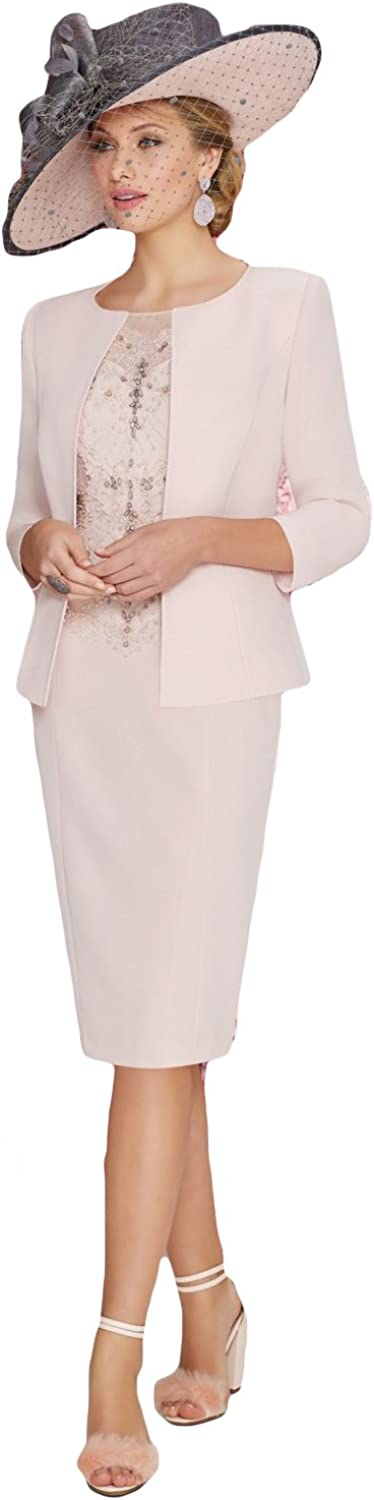 Newdeve Light Pink Mother Of The Bride Dresses Plus Size 2 Pieces Evening Gown