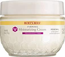 Burt's Bees Renewal Firming and Moisturizing Cream with Bakuchiol Natural Retinol Alternative, Fragrance Free, 1.8 Oz