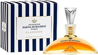 Classique by Princesse Marina de Bourbon | Eau de Parfum Spray | Fragrance for Women | Floral and Fruity Scent with Notes of Exotic Fruits and Vanilla | 100 mL / 3.4 fl oz