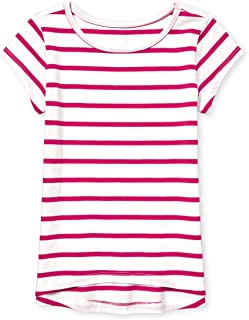 Girls' Big Short Sleeve Stripe Layering T-Shirt