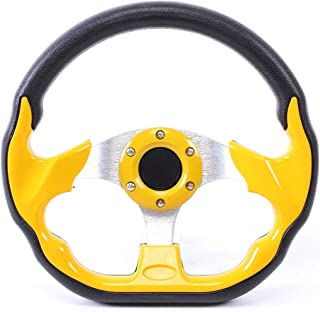 Racing Steering Wheel,320mm/12.5in Carbon Fiber PVC Leather Car Sport Racing Drift Steering Wheel with Horn Button Universal Accessory