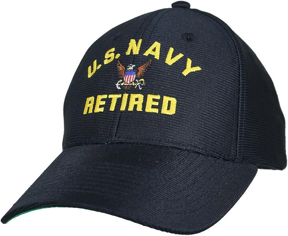U.S. Navy Retired Baseball Cap. Navy Blue. Made in USA
