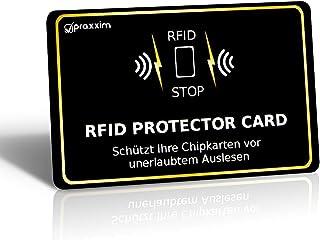 praxxim RFID Blocker Karte in schwarz/Gold – Störsender b