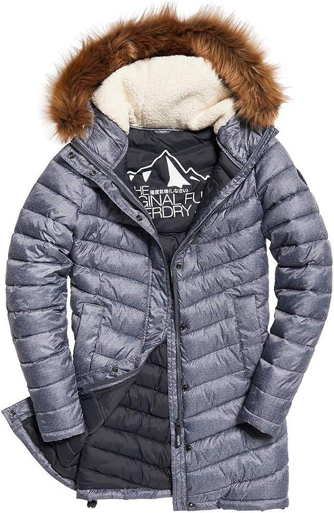 Superdry Chevron Faux Fur Fuji お得 高品質 Super Jacket