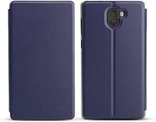 Maxku Leagoo KIICAA MIX ケース 5.5インチ 超軽量 PUレザー スタンドカバー 手帳型 保護ケース (ブルー)