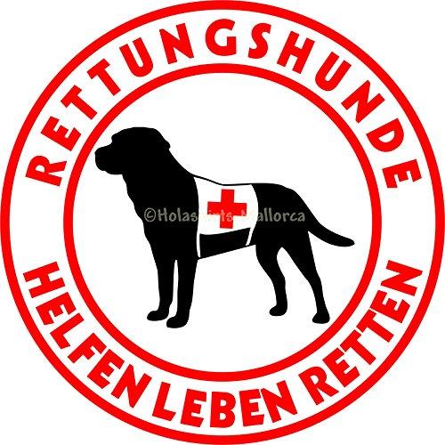 Holashirts Mallorca Labrador Rettungshund Auto-Folien-Aufkleber Hundeaufkleber Car-Sticker (Ø150mm)