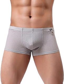 KPILP Men Hot Sexy Mesh Underwear Fashion Brief Shorts Boxer Underpants