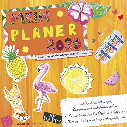 Mein Planer - Kalender 2020 - Alpha Edition-Verlag - Broschurkalender mit Platz zum Eintragen - 30 cm x 30 cm (offen 30 cm x 60 cm)