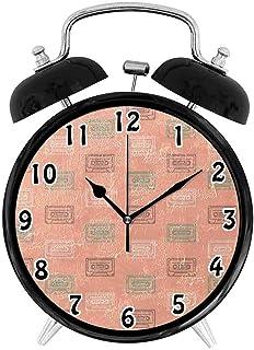 寝室、リビングルーム、オフィスデコレーション連続秒針目覚まし時計、テーマはラジオ柄 かわいいのパーソナリティファッション目覚まし時計