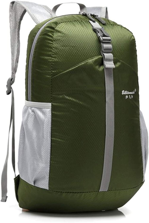 MAGAI Outdoor Folding Waterproof Sports Climbing Bag. (color   Dark green)